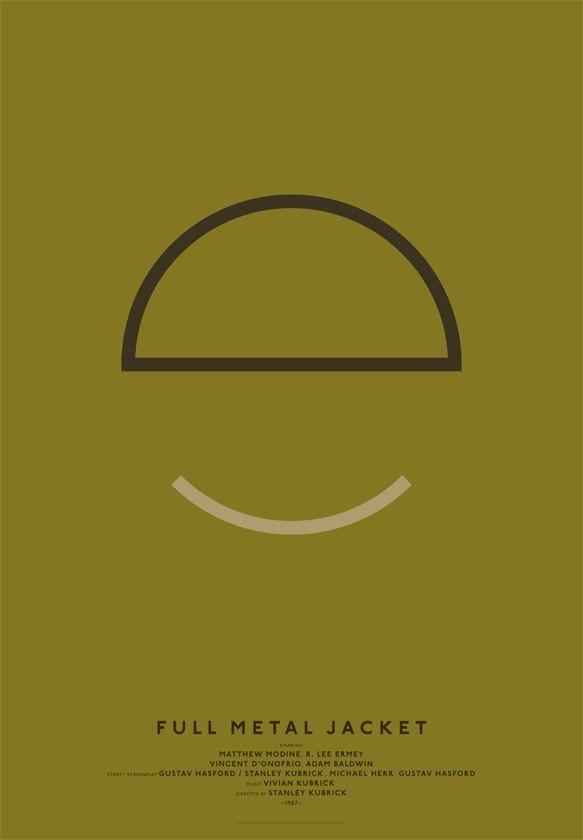 Дизайнер переделал постеры кинохитов в минималистском стиле. Изображение № 7.