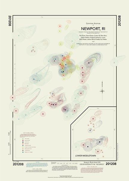 Карта запахов Ньюпорта. Изображение № 3.