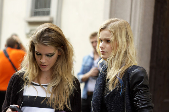 Milan Fashion Week: Модели после показов. Изображение № 9.