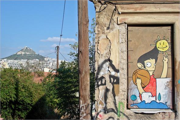 Стрит-арт и граффити Афин, Греция. Часть 2. Изображение № 38.