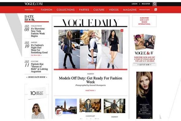 У Dazed Digital и Vogue.com поменялся дизайн. Изображение № 4.