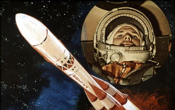 «Поехали!» Подборка ретро-плакатов с Юрием Гагариным. Изображение № 31.