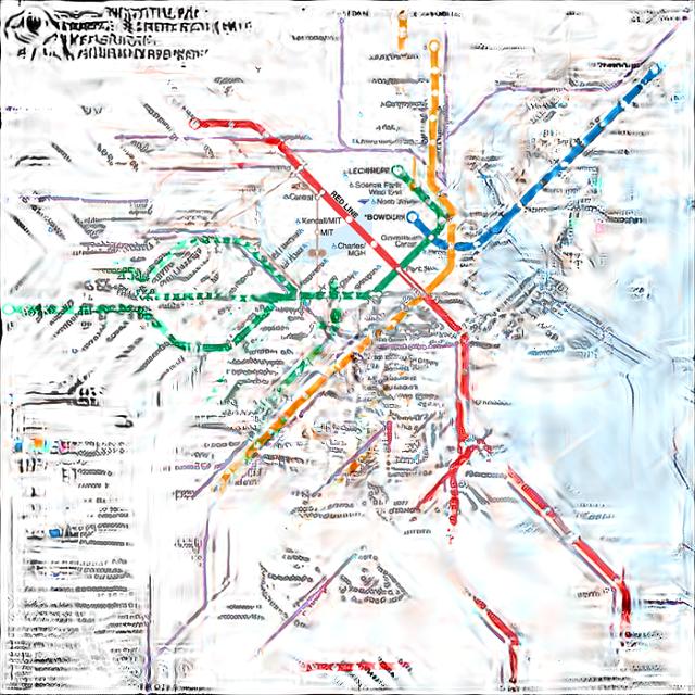 Одна из конкурсных работ на редизайн схемы движения общественного транспорта Бостона. Изображение № 4.