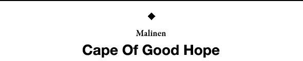 Дебютный фолк-альбом Malinen «Cape Of Good Hope». Изображение № 1.