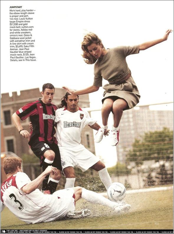 Быстрее, выше, сильнее: Модные съемки, вдохновленные спортом. Изображение №13.