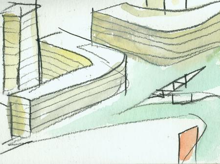 Архитектурные акварели стивена холла. Изображение № 12.