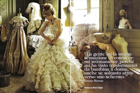 Эмма Уотсон (итальянский Vogue, сентябрь 2008). Изображение № 1.