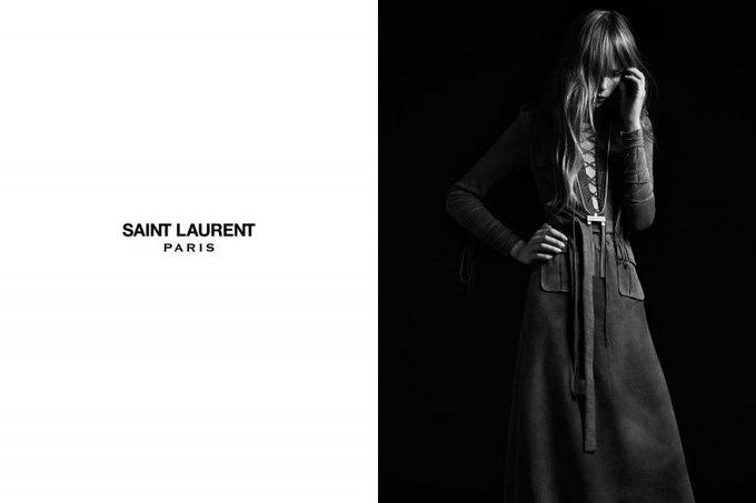 Бек и Эди Кэмпбелл снялись в кампании Saint Laurent. Изображение № 14.