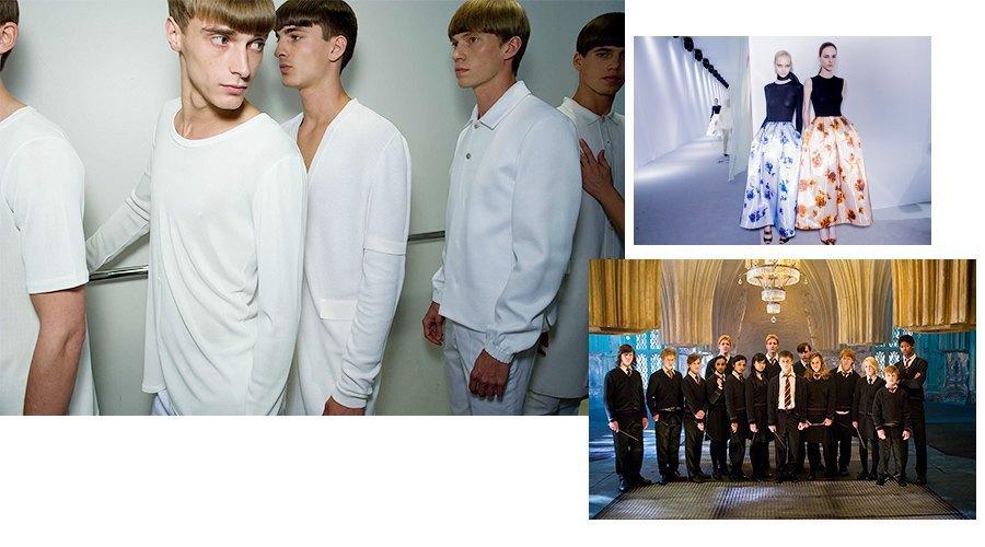 Слева направо, сверху вниз: минимализм, женская одежда и школьники. Изображение № 11.