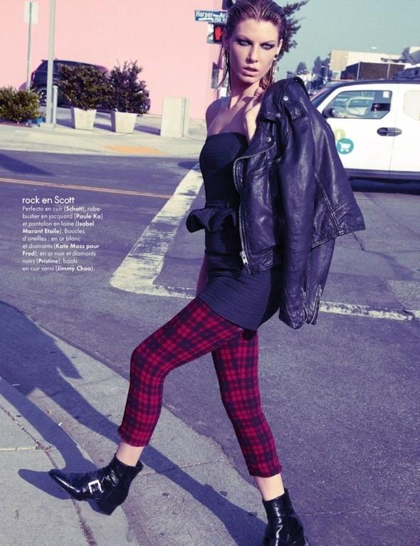 Съемка: Анджела Линдвалл для французского Elle. Изображение № 7.