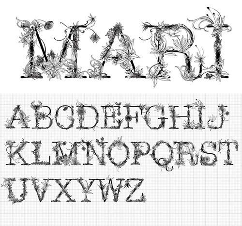 18 шрифтов дизайнерской группы Behance. Изображение № 16.