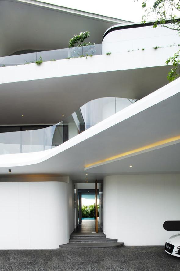 «Трехпалубная» вилла от Aamer Architects. Изображение № 11.