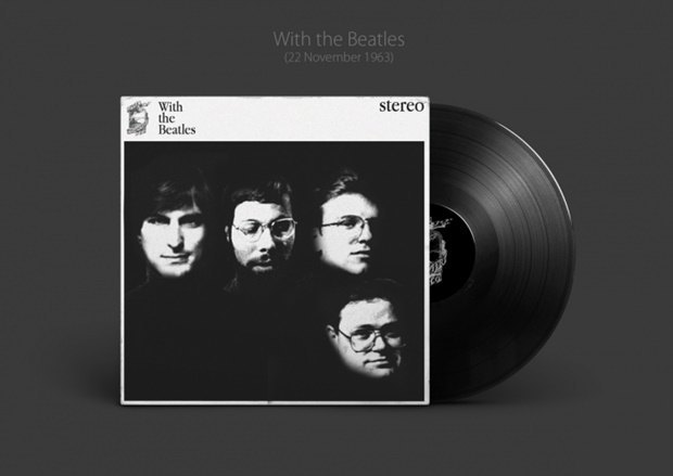 Обложки альбомов The Beatles перерисовали в стиле Apple. Изображение № 1.