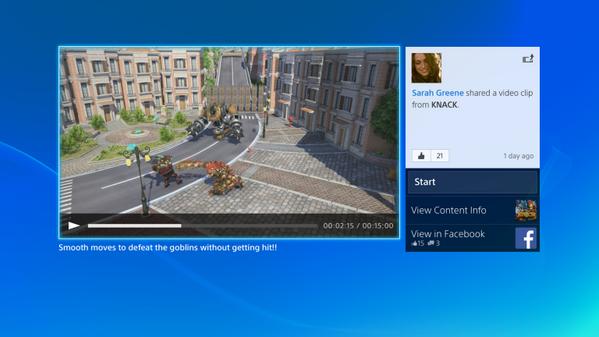 Выложены изображения и видео интерфейса PS4. Изображение № 1.