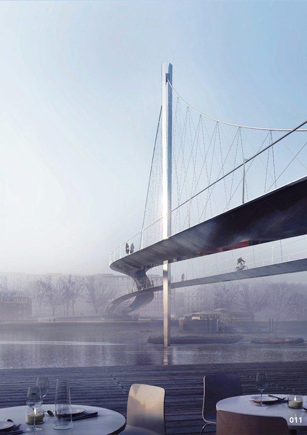 Выложены 74 проекта нового моста через Темзу. Изображение № 73.
