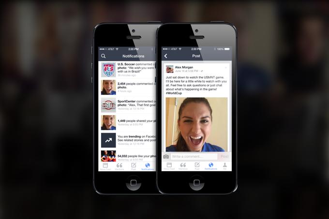 Facebook выпустил приложение для знаменитостей Mentions . Изображение № 1.