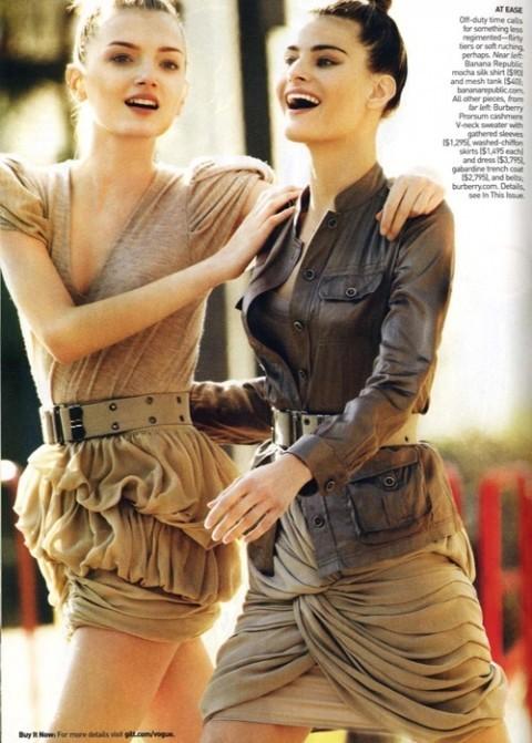 Изображение 7. Фотосессия в Vogue в стиле милитари.. Изображение № 7.