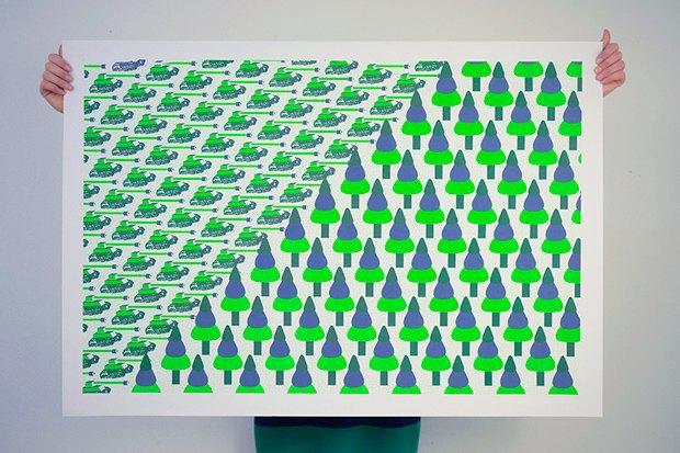 50 постеров, которые вдохновляют заняться шелкографией. Изображение № 14.