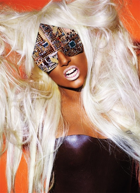 Lady Gaga by Mario Testino for V 61 September 2009. Изображение № 4.