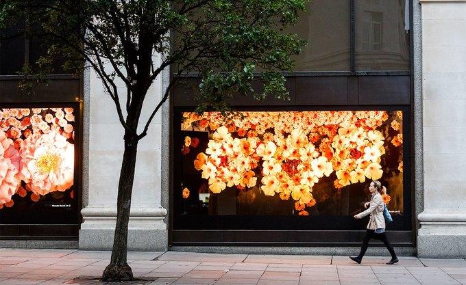 Для Apple Watch оформили цветами витрину Selfridges . Изображение № 4.