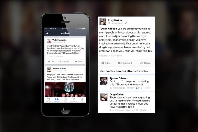 Facebook выпустил приложение для знаменитостей Mentions . Изображение № 2.