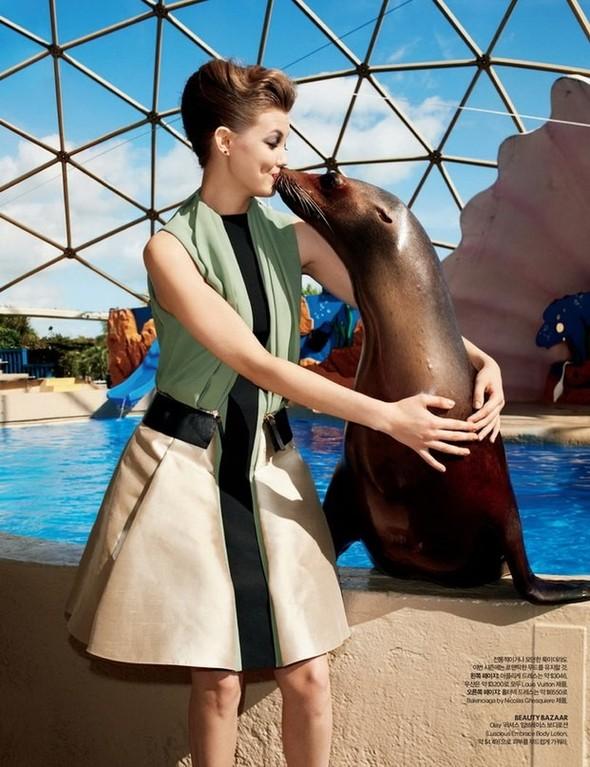 Lindsey Wixson for Harper's Bazaar Korea. Изображение № 2.