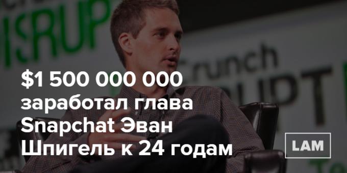Число дня: сколько заработал самый молодой миллиардер в мире. Изображение № 1.