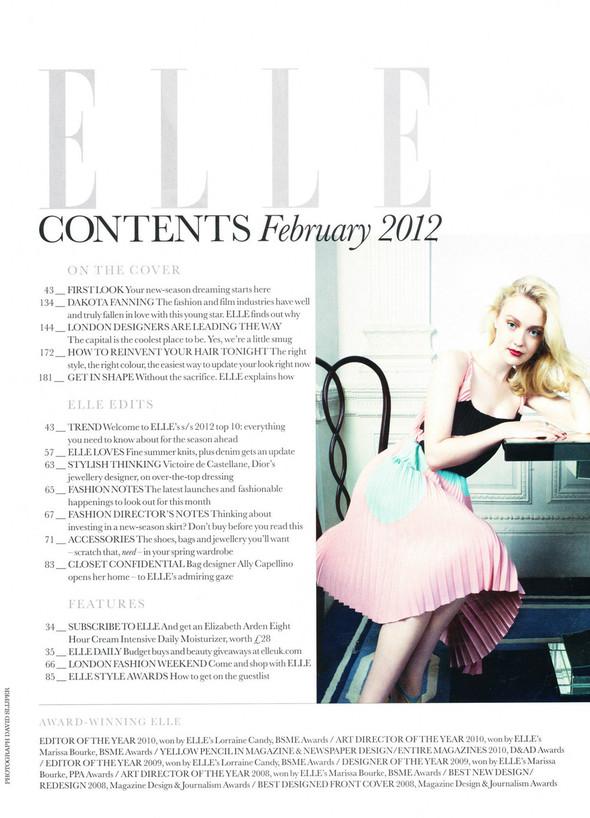 Съёмка: Дакота Фэннинг для Elle. Изображение № 1.