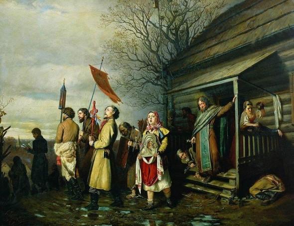 В.Г.Перов, Крестный ход. Изображение № 35.