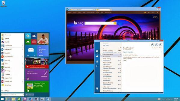 Microsoft показала новое меню «Пуск». Изображение № 1.