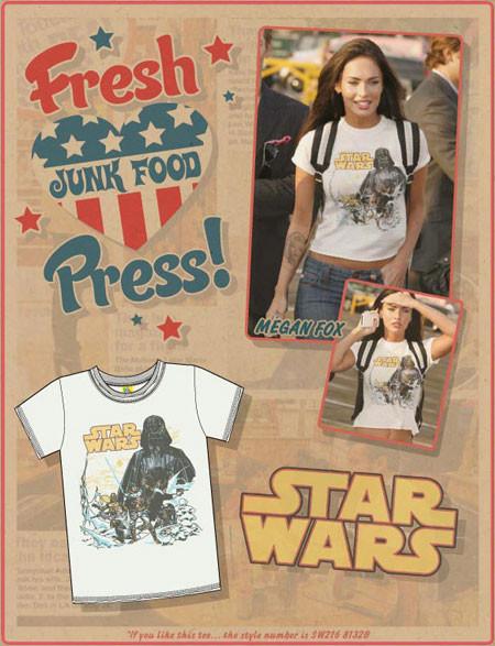 Звездные футболки Junk Food. Изображение № 3.