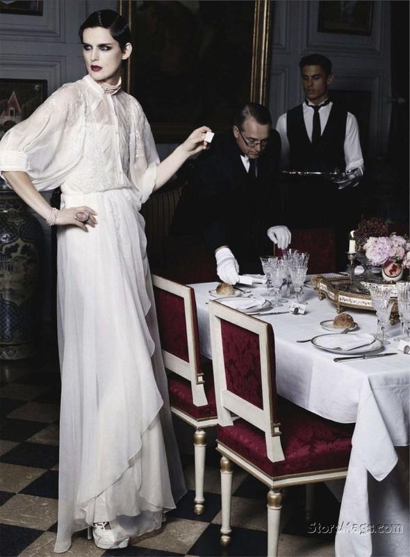 Съёмка: Карл Лагерфельд для Harper's Bazaar. Изображение № 9.