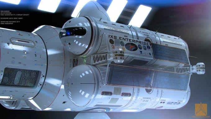Опубликован концепт корабля NASA с варп-двигателем . Изображение № 3.