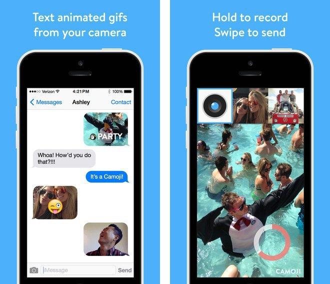 Приложение: Camoji — простой способ отправить сообщение с GIF-селфи . Изображение № 1.