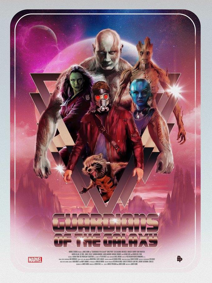 Опубликованы 44 фанатских постера к «Стражам Галактики». Изображение № 9.
