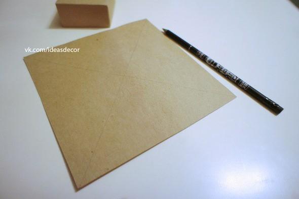 Простая подарочная коробочка, без использования клея. Изображение № 1.
