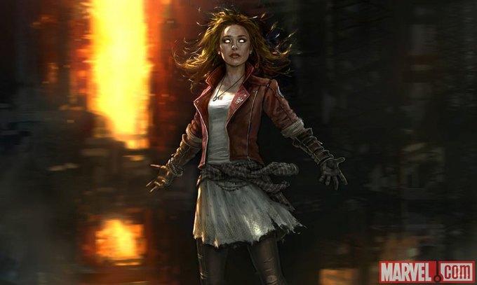 Концепт-арт к фильму «Мстители: Эра Альтрона»: Алая ведьма. Изображение № 2.
