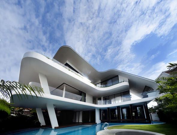 «Трехпалубная» вилла от Aamer Architects. Изображение № 3.