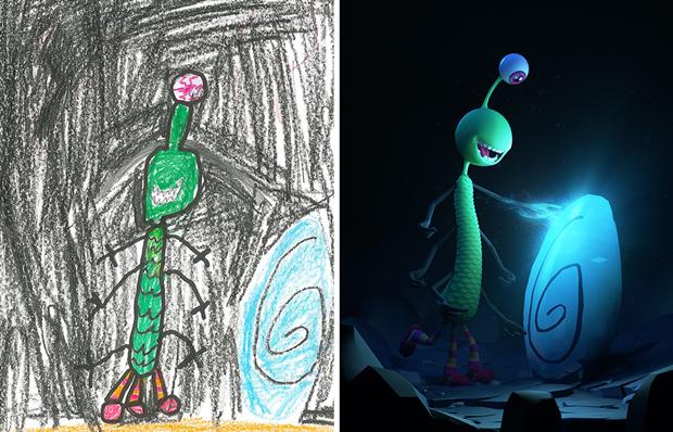 Художники создали монстров наоснове детских рисунков. Изображение № 8.