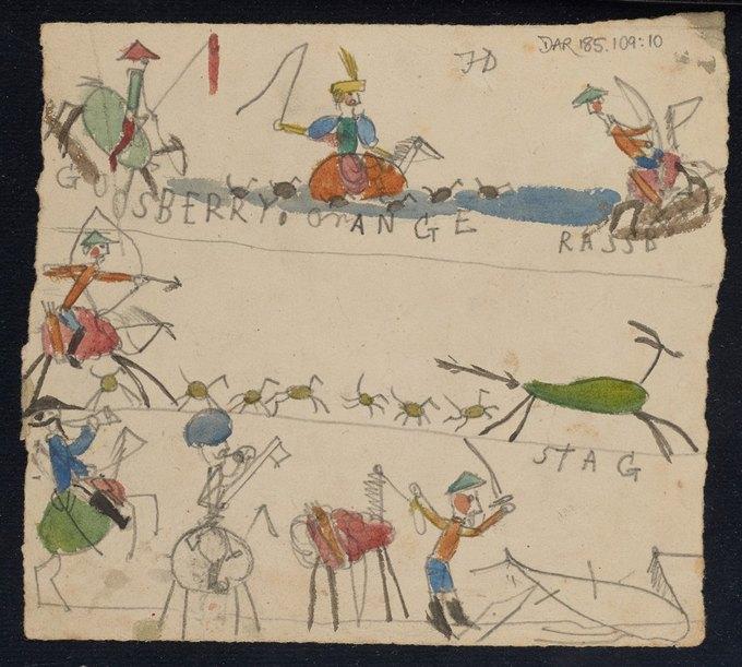 Фото: рисунки детей Дарвина на страницах «Происхождения видов». Изображение № 10.