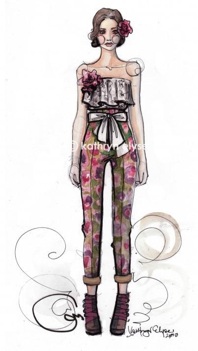 Kathryn Elyse. Fashion Illustrations. Изображение № 9.