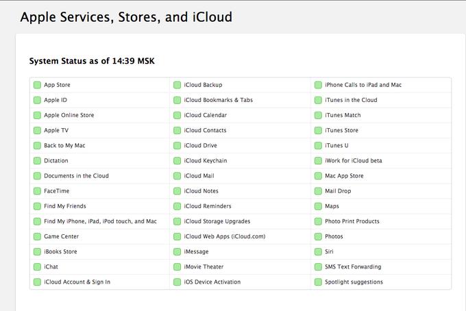 Онлайн-сервисы Apple недоступны. Изображение № 1.