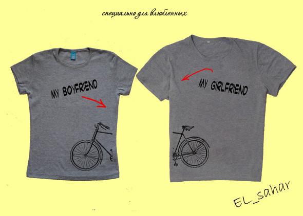 Elsaharova: половинчатые футболки на 14 февраля. Изображение № 6.