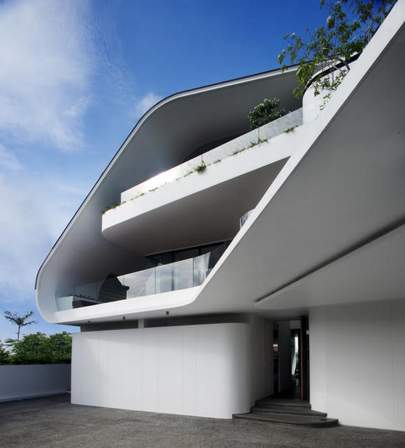«Трехпалубная» вилла от Aamer Architects. Изображение № 2.