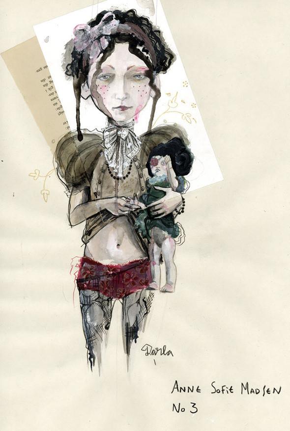 Изображение 2. Fashion-иллюстрационация от Anne Sofie Madsen.. Изображение № 2.