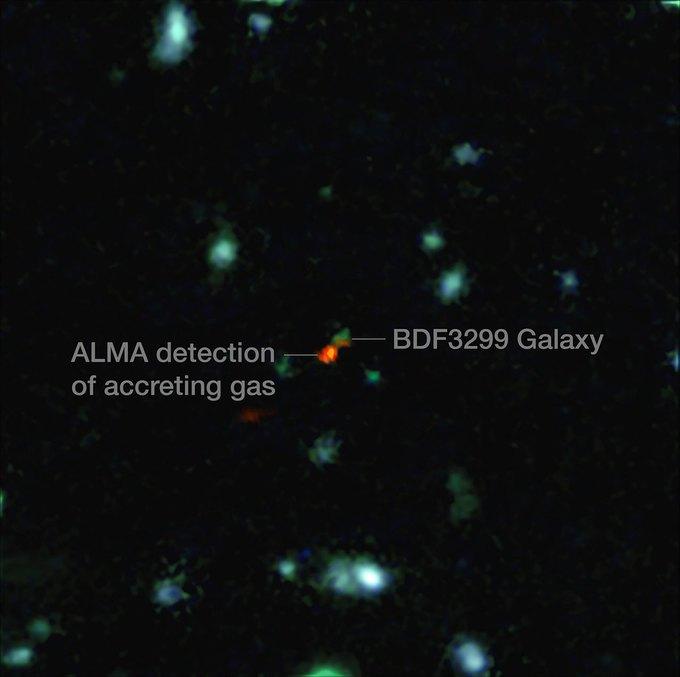 Получено самое чёткое изображение ранних галактик . Изображение № 1.