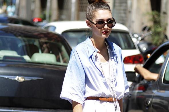 Изображение 10. Девушки на Milan Fashion Week: день 2.. Изображение № 10.