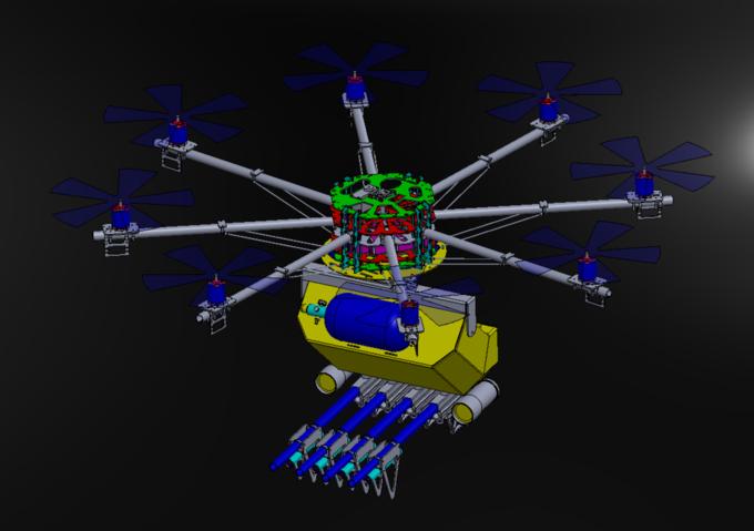 Модель дрона. Изображение № 1.