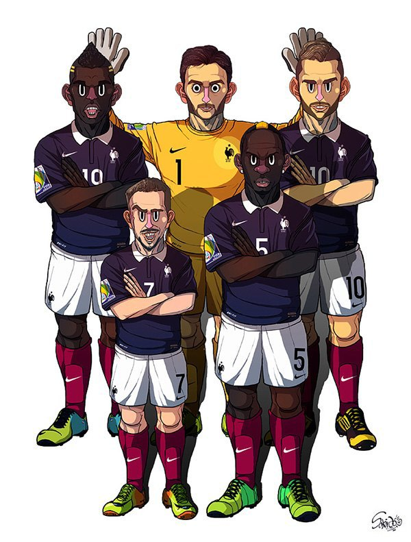 Иллюстратор нарисовал все 32 команды ЧM по футболу . Изображение № 9.