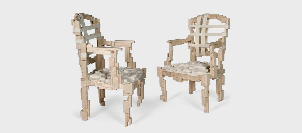 Глитч-мебель: красивые компьютерные ошибки в интерьере. Изображение № 15.